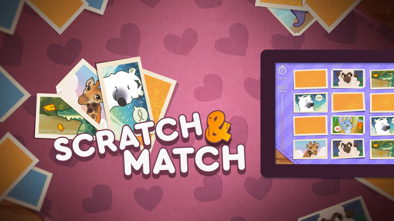 Scratch & Match Animals