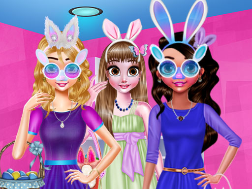 Funny Easter Girls
